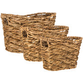 Natural Water Hyacinth Basket Set
